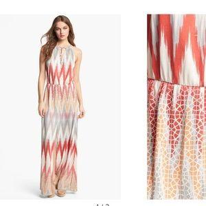 Parker Allison Silk Blend Maxi Dress Sz M